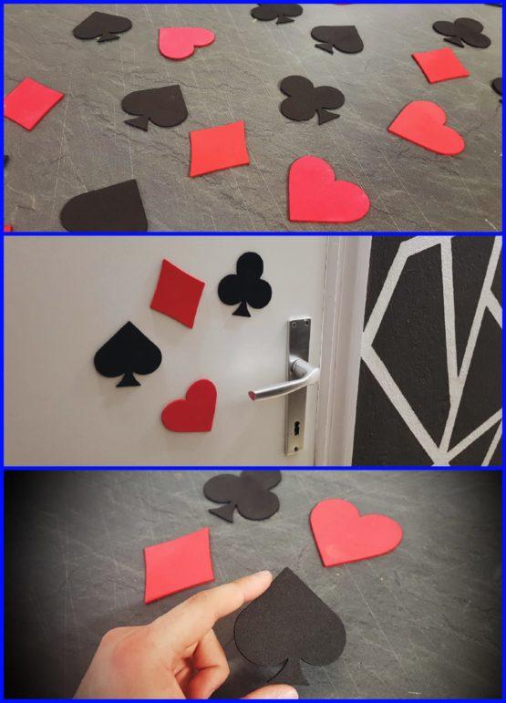 Decorazioni semi delle carte