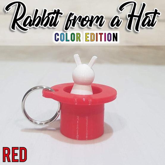 """""""Rabbit From a Hat"""" rosso"""