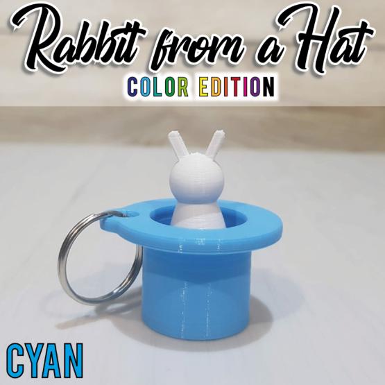 """""""Rabbit From a Hat"""" azzurro"""